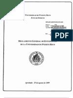 Reglamento General de Estudiantes de La UPR