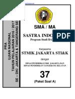 Soal Pra Ujian Nasional Bahasa Dan Sastra Indonesia Sma Kode a (37)