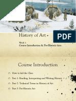 History of Art Presentation week 1