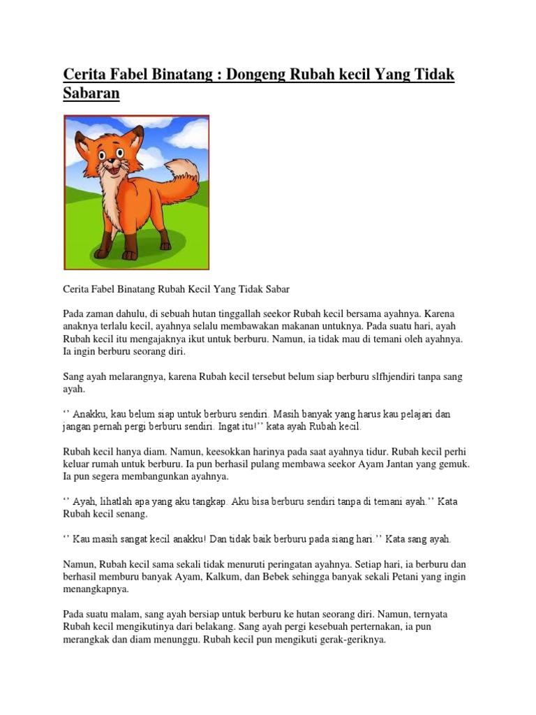 Cerita Fabel Binatang