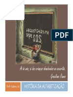 1-Slides a História Da Alfabetização