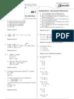 Matemática - Caderno de Resoluções - Apostila Volume 1 - Pré-Universitário - mat5 aula01