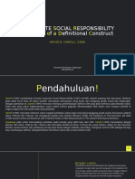 ORPORATE SOCIAL RESPONSIBILITY Evolution of a Definitional Construct