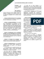 DE LAS SOCIEDADES IRREGULARES Y DE HECHO EN URUGUAY