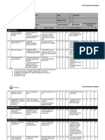 EP QA FM 015 Risk Assessment Register Form Admin