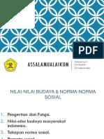 Nilai-nilai & Norma-norma Sosial Budaya (Malinda Ine s)