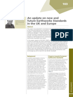 An Update on New and Future Earthworks Standards in the UK and Europe