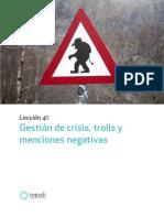 Gestion de crisis trolls y menciones negativas