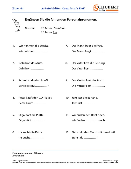 akkusativ pronomen 3