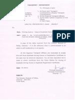 LDR RTO Letter and DGP Letter