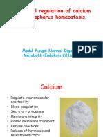 Hormonal Regulation of Calcium and Phosphorus Homeostasis 1