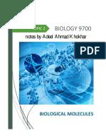 2. Biological Molecules AS Biology