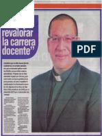 """""""Hay que revalorar la carrera docente"""", Elías Neira"""