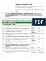 Checklist for Controlled Trials