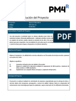 Acta de Constitucion Del Proyecto Ejemplo