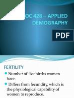 Soc 428 – Applied Demography