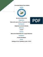 Tarea 1, Educacion Para La Paz