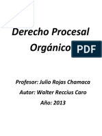 Derecho Procesal Organico (Apuntes)