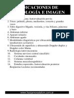 Indicaciones de Radiologia e Imagen