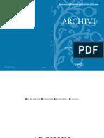 Archivi, An 8, 2013, Nr. 1