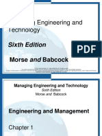 1- Introduction to Engineering & Management