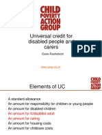 Universal Credit for Disabled People Carers 1