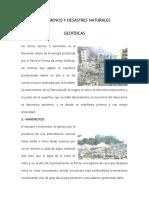 Fenómenos y Desastres Naturales Tt Fefe