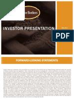 FARm Farmer Brothers Investor Presentation May 24 2017