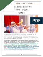 11. Las Fiestas de IHVH - Yom Teruah Parte 2