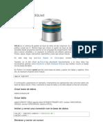 Bases de Datos SQLite3