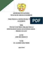"""""""Proyecto de Prefactibilidad Para La Exportacion de Quinua a Eeuu"""