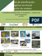 Métodos de planificación energética territorial - Creación de empleo