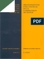 Sanchez Miguel Emilio - Procedimientos para instruir en la comprensión de textos.pdf