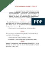 Ejemplos de discriminación religiosa y cultural.docx