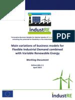 Business Models for Flexible Industrial Demand Com