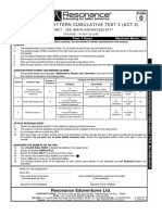 Advanced Pattern Cumulative Test-3 Paper 1