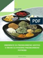 Bs-Smjernice za prehrambene aditive u hrani