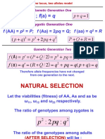 Natural Selection to H-W Equilibrium