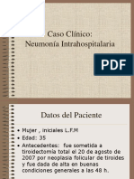 Caso Clinico Neumonia Intrahosspitalaria