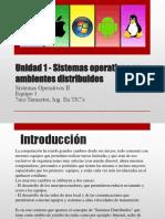 Unidad 1 Sistemas Operativos en Ambientes Distribuidos