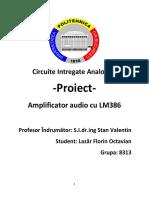 Amplificator Audio Cu TDA2030
