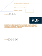 Tercer Examen Parcial de Matemática