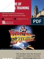 The Future of Doctoral Training