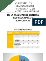 Analisis de Los Determinantes Del Emprendimiento en Estudiantes