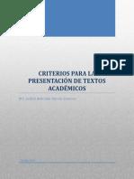 04 Criterios Para La Presentación de Textos Académicos