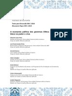 PINTO, Eduardo Costa, et al. A economia política dos governos Dilma