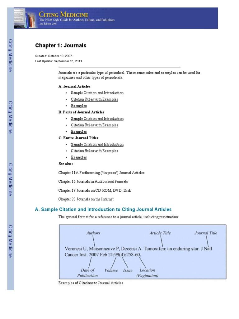 Journal citation rules pdf | Citation | Alphabet