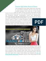 Situs Judi Domino QQ Online Banyak Bonus