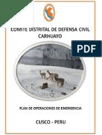 Plan de Operaciones de Emergencia