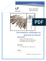 Instumentos en Operatoria Dental